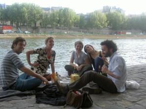 Chillen aan de Seine